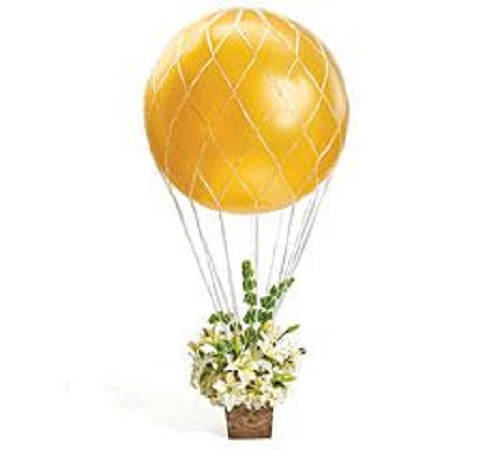 Hot air balloon arrangement net large party bouquet