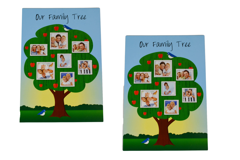 family tree set of 2 magnetic photo picture frames ebay. Black Bedroom Furniture Sets. Home Design Ideas