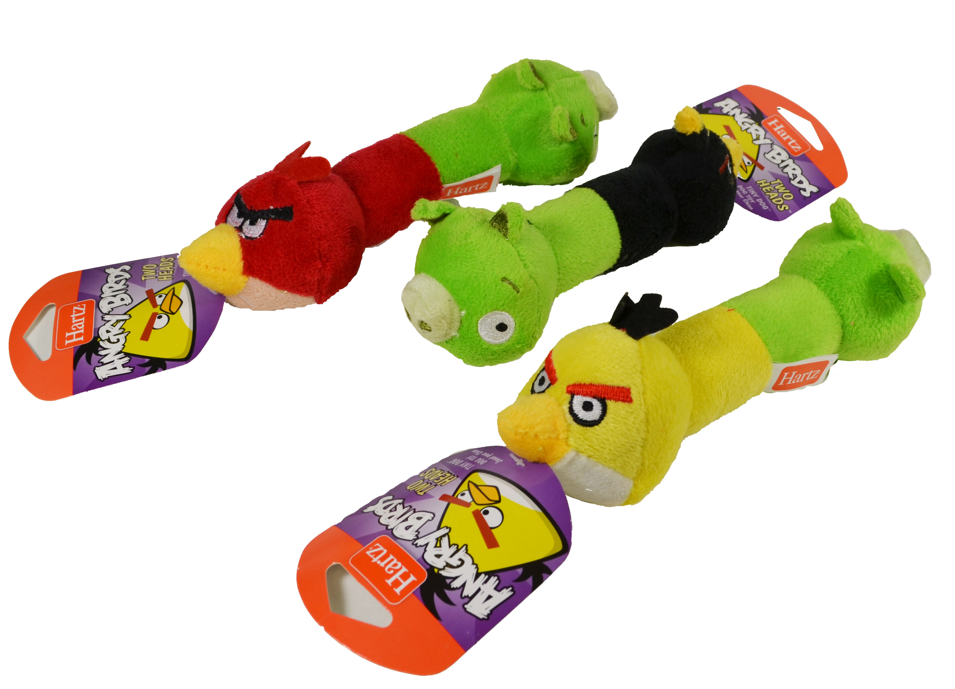 Set of 3 angry birds two heads dog toys plush with squeaker ebay - Angry birds toys ebay ...