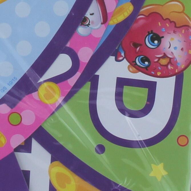 Shopkins Birthday Banner Shopkins Party Banner: Shopkins 6Ft. Happy Birthday Jointed Banner Paper Goods
