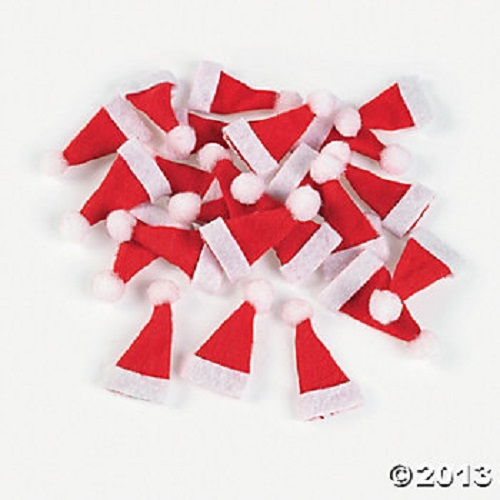 Miniature Santa Hats for Crafts