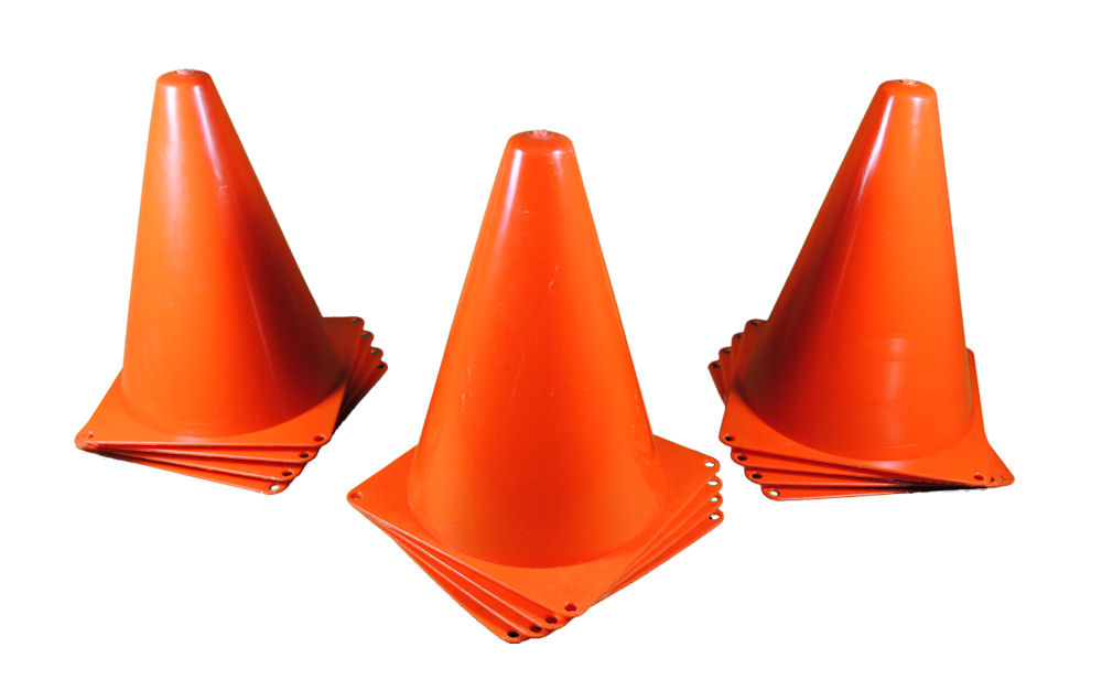 Set of 12 Sport Training Traffic Orange Cones Soccer Cone ...