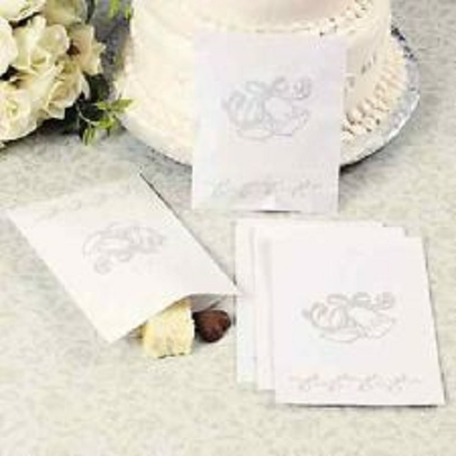 lot of 50 wedding bell paper cake bags reception guest shower dessert