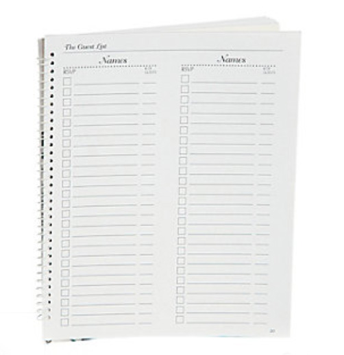 Details about Spiral Bound Wedding Organizer Event Calendar Planning ...