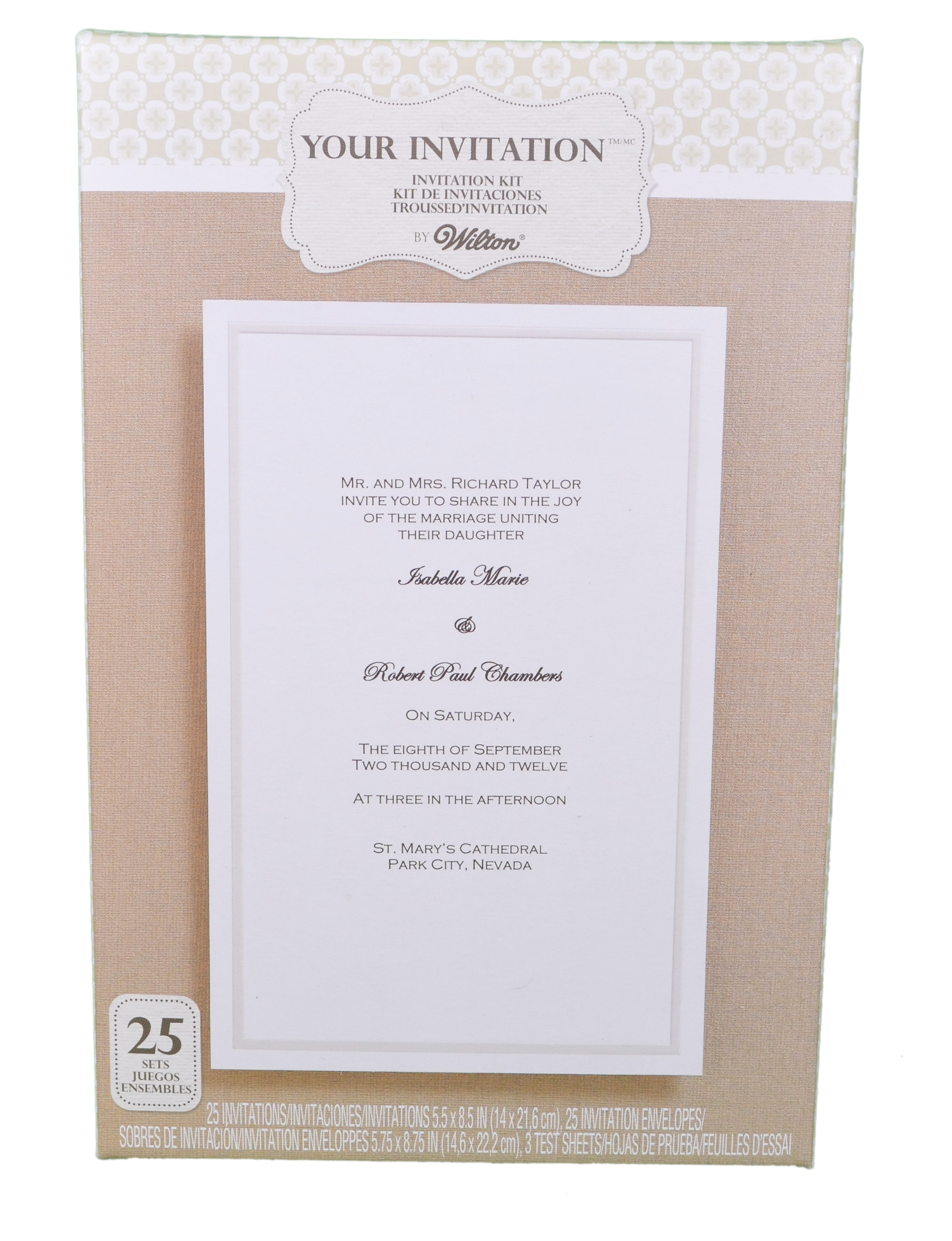 Wilton Wedding Invitation Kits was very inspiring ideas you may choose for invitation ideas