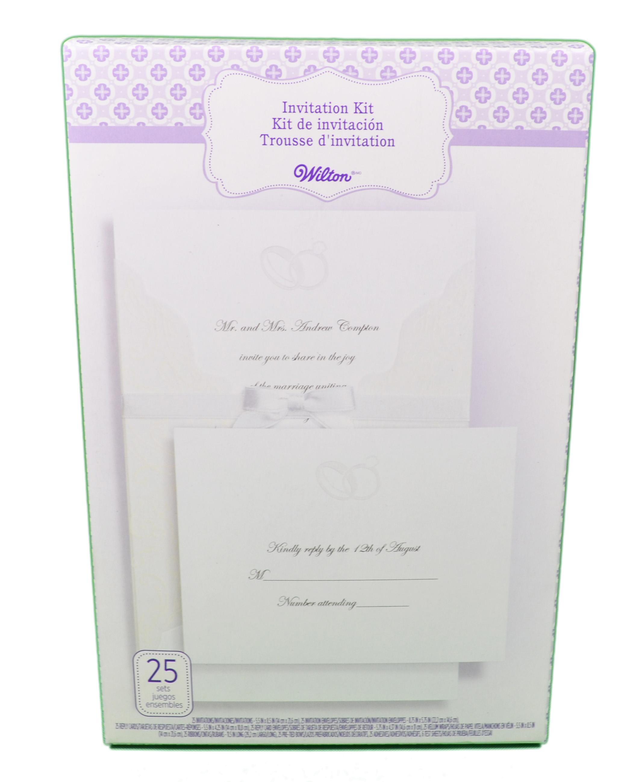www wiltonprint com templates - wilton wedding invitation kit embellished rings 25 count