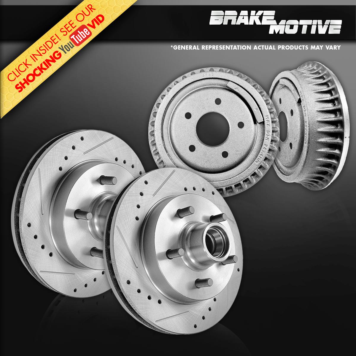 Front Drum Brakes : Front brake rotors rear drums kit