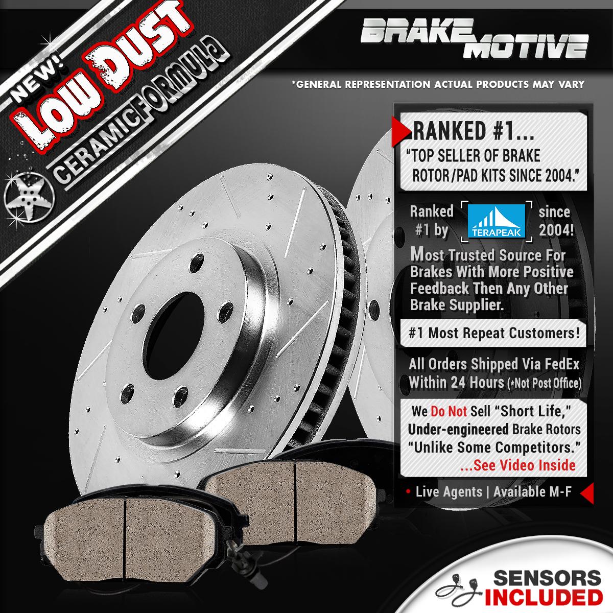 Front Brake Rotors And Ceramic Pads Bmw E60 525 525i 525xi