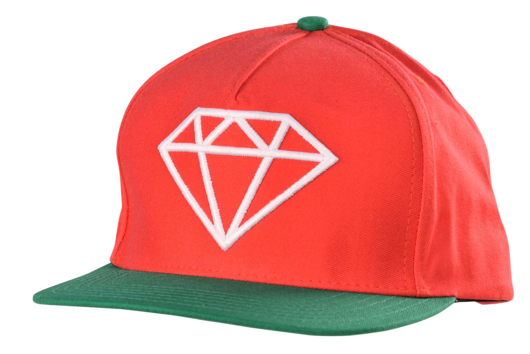 Details about Diamond Supply Co. Rock Logo Snapback Hat Cap-Green/Red