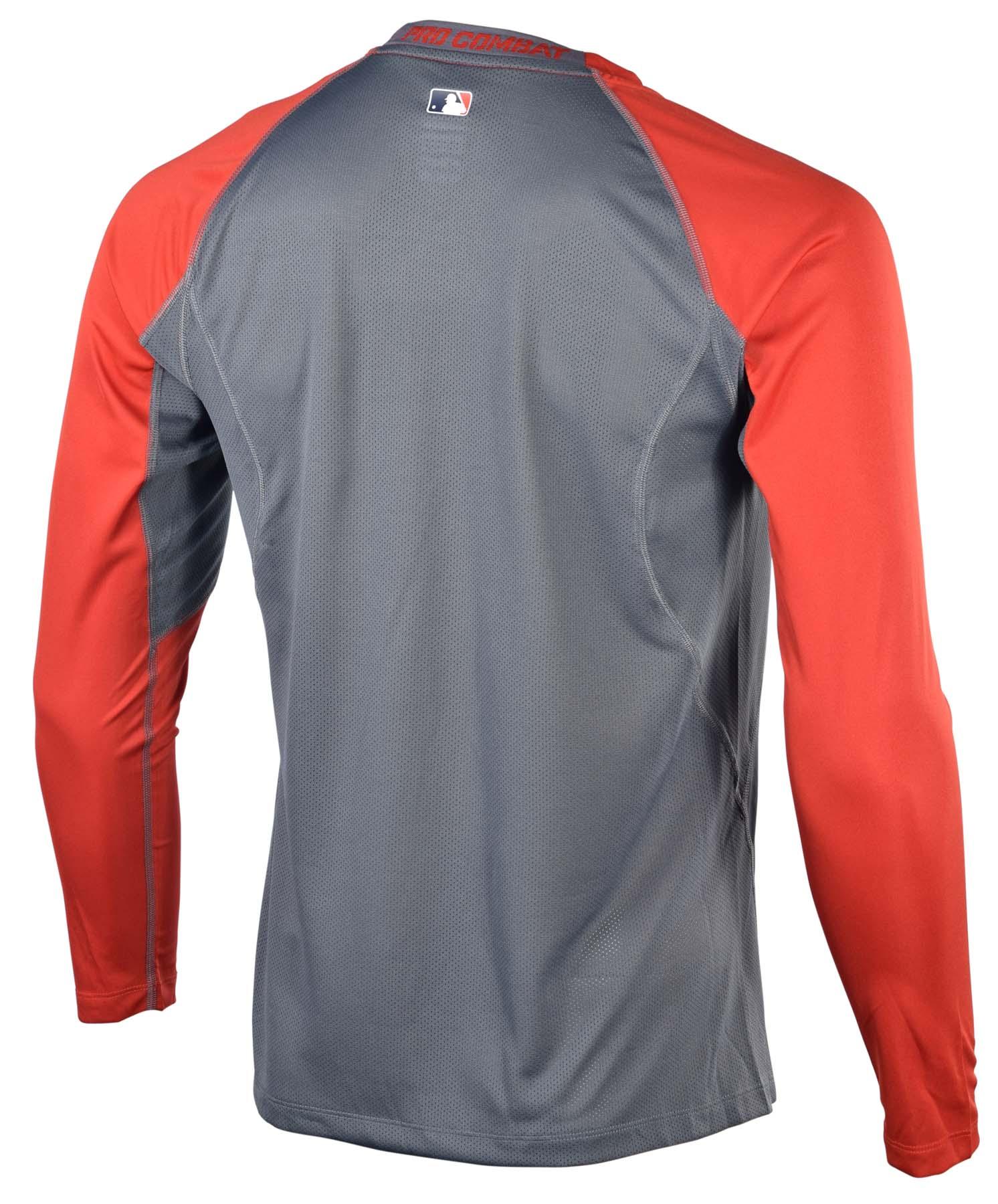 Nike men 39 s dri fit pro combat core fitted raglan baseball for Nike men s pro cool sleeveless shirt