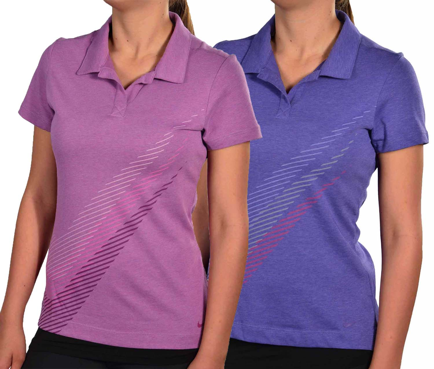 Nike women 39 s dri fit sports swoosh golf polo shirt ebay for Women s dri fit golf shirts
