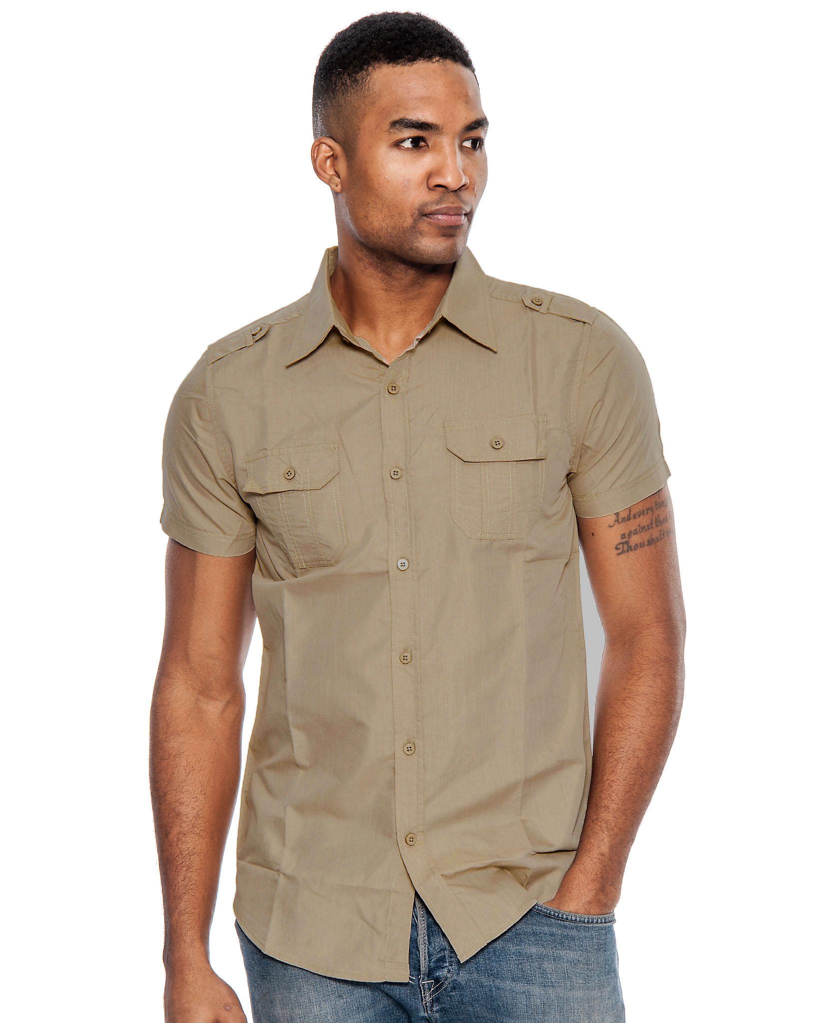 True Rock Men's Poker Short Sleeve Slim Fit Button Down Shirt   eBay