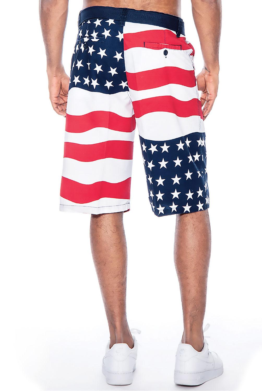 American flag shorts men