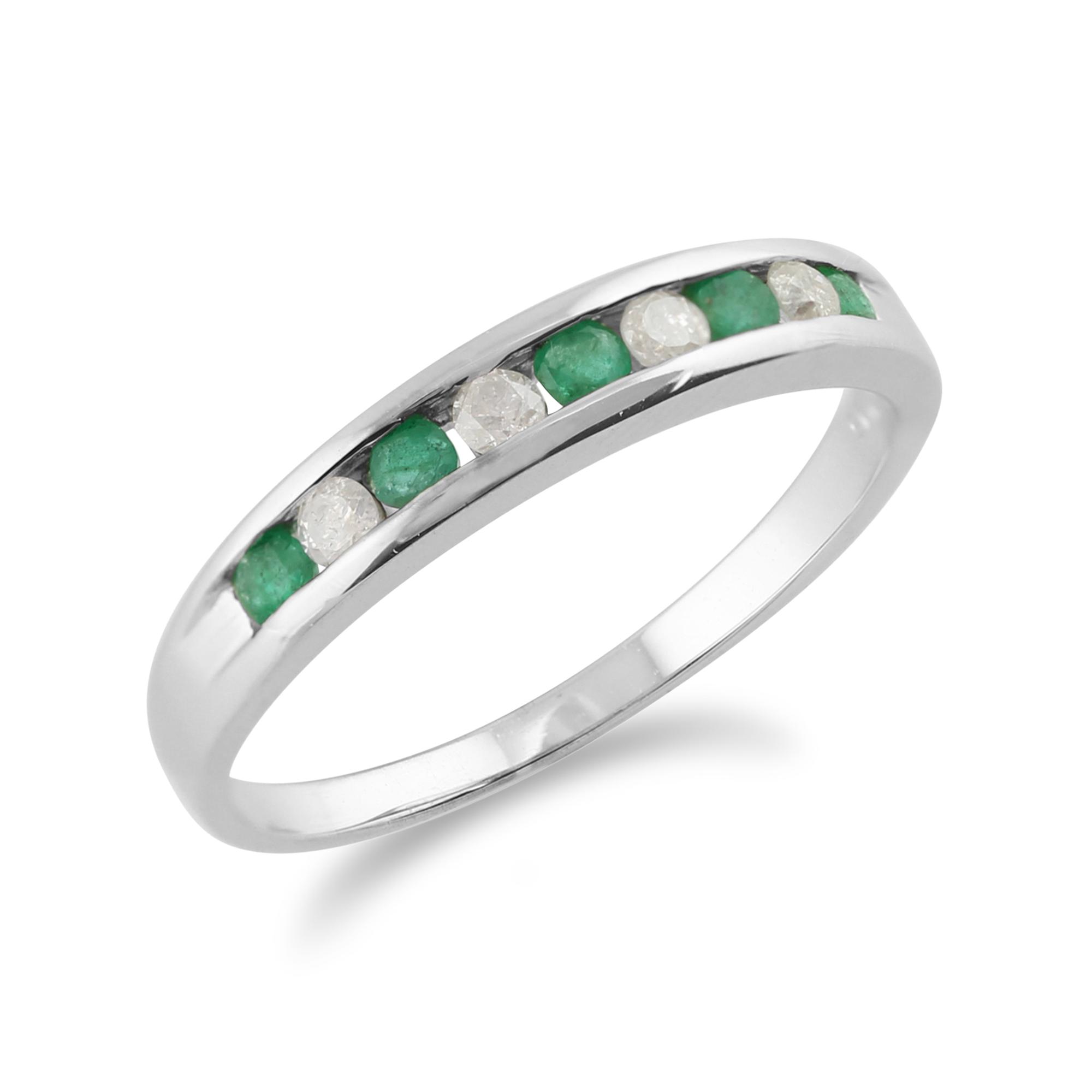 9ct white gold 0 22ct emerald half