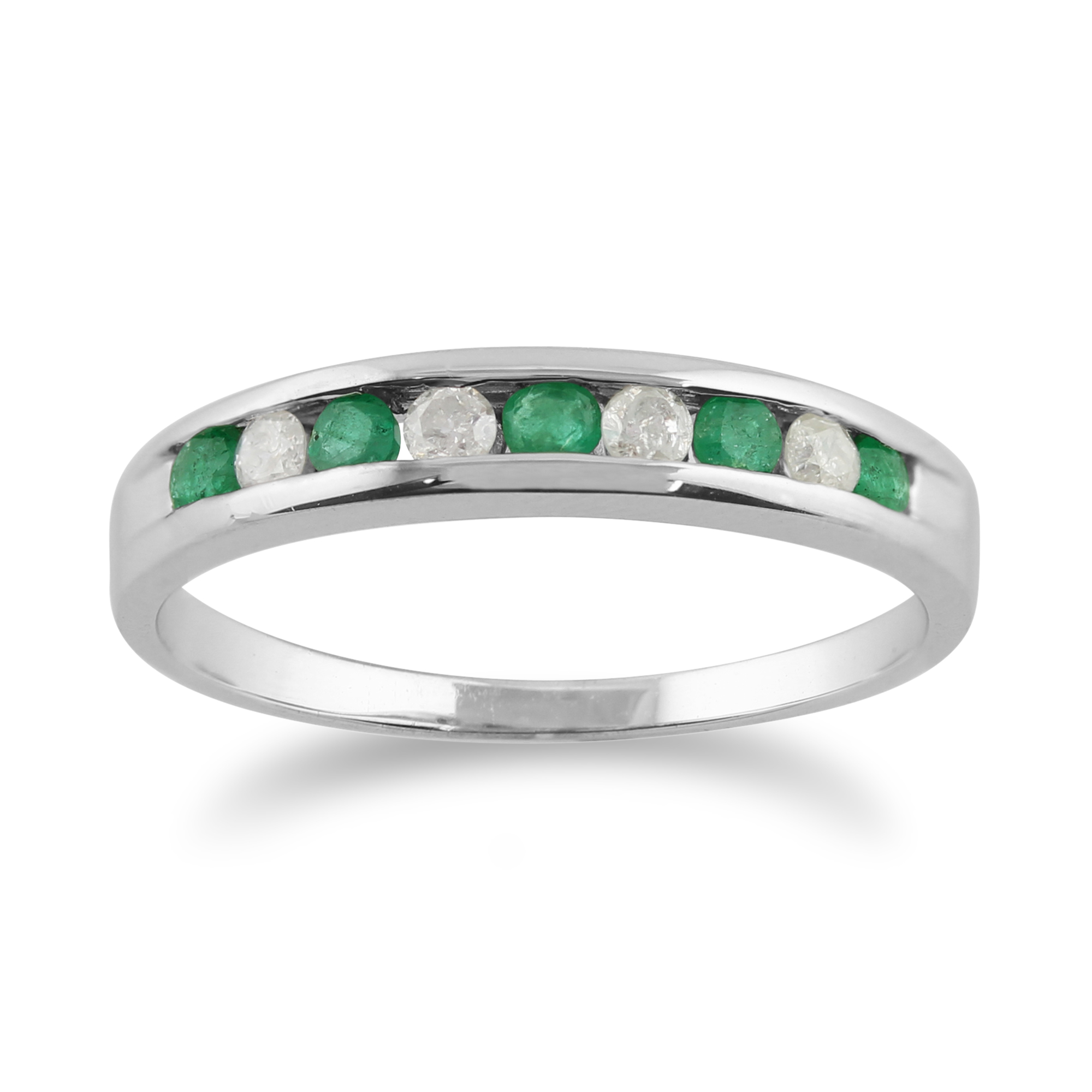9ct white gold 0 22ct emerald half