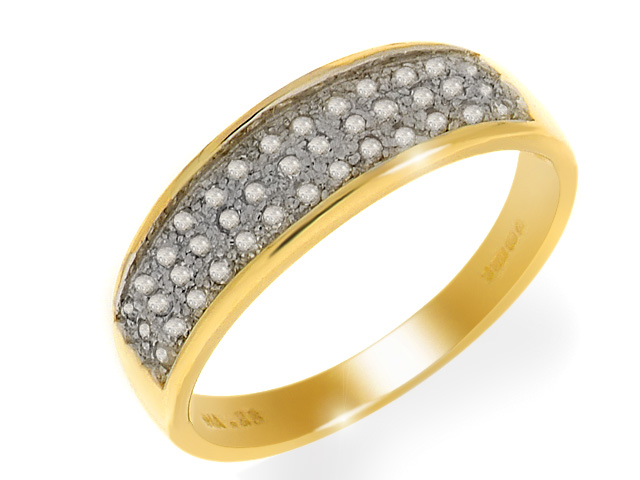 9ct Yellow Gold Diamond Ring Size: X