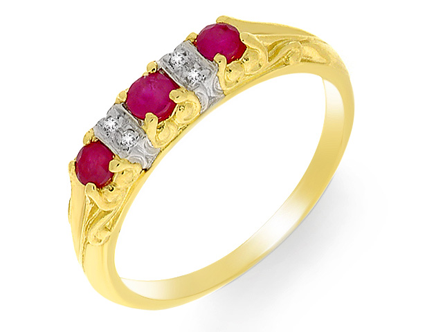 9ct Yellow Gold Ruby