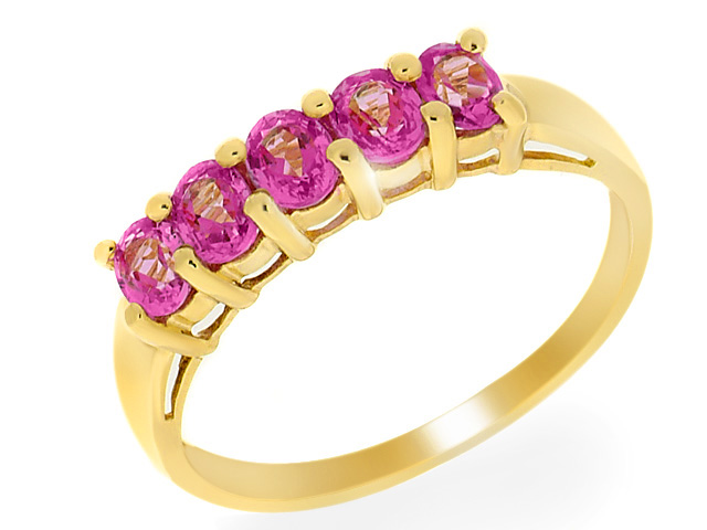 9ct Yellow Gold Pink Topaz Ring