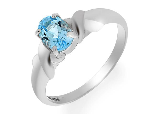 9ct White Gold Sky Blue Topaz Ring
