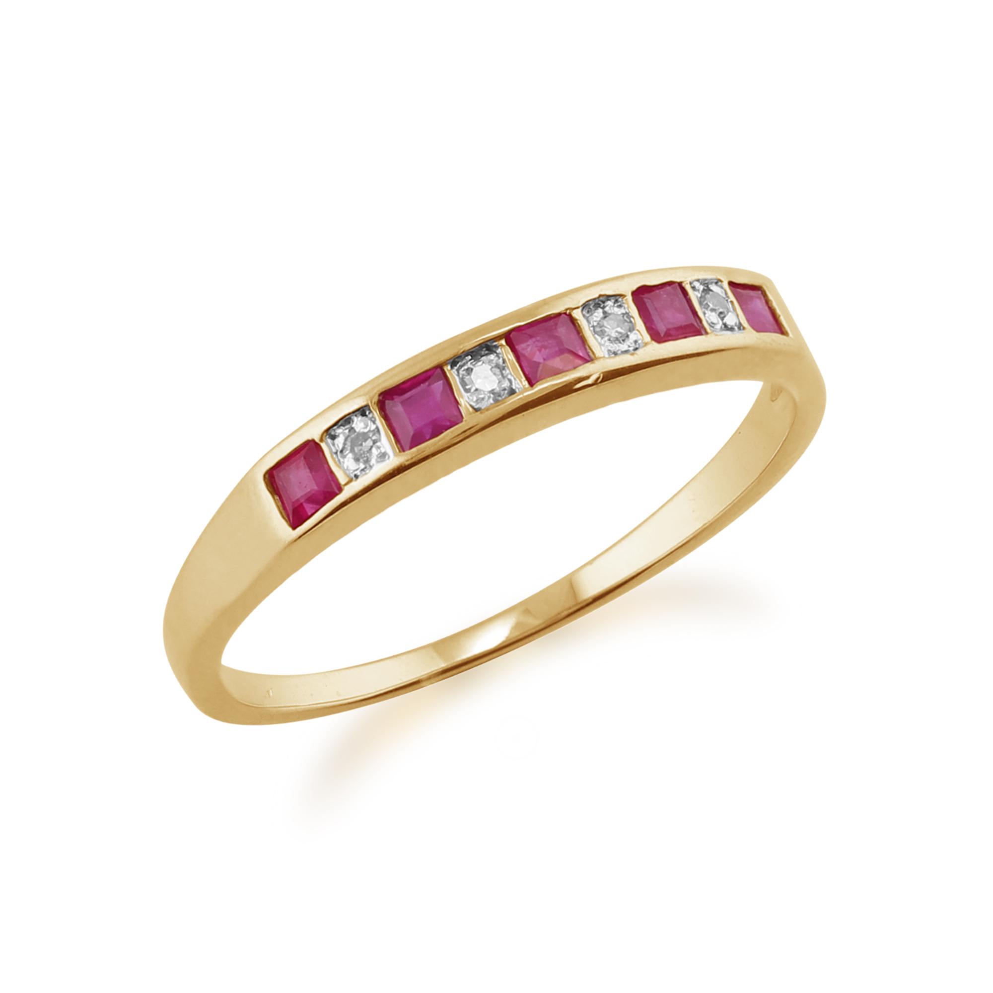Ruby And Diamong Eternity Ring Uk
