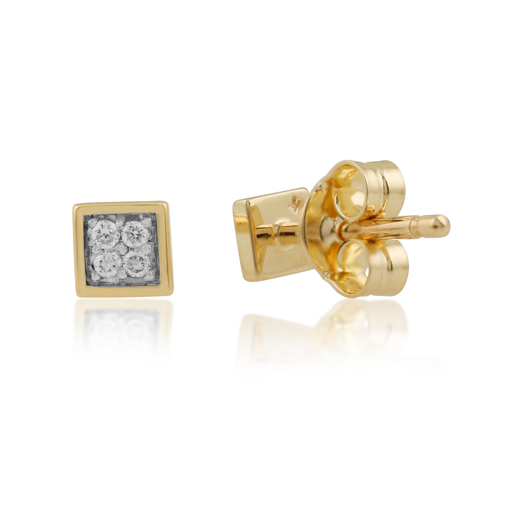 Amazoncom white gold square stud earrings