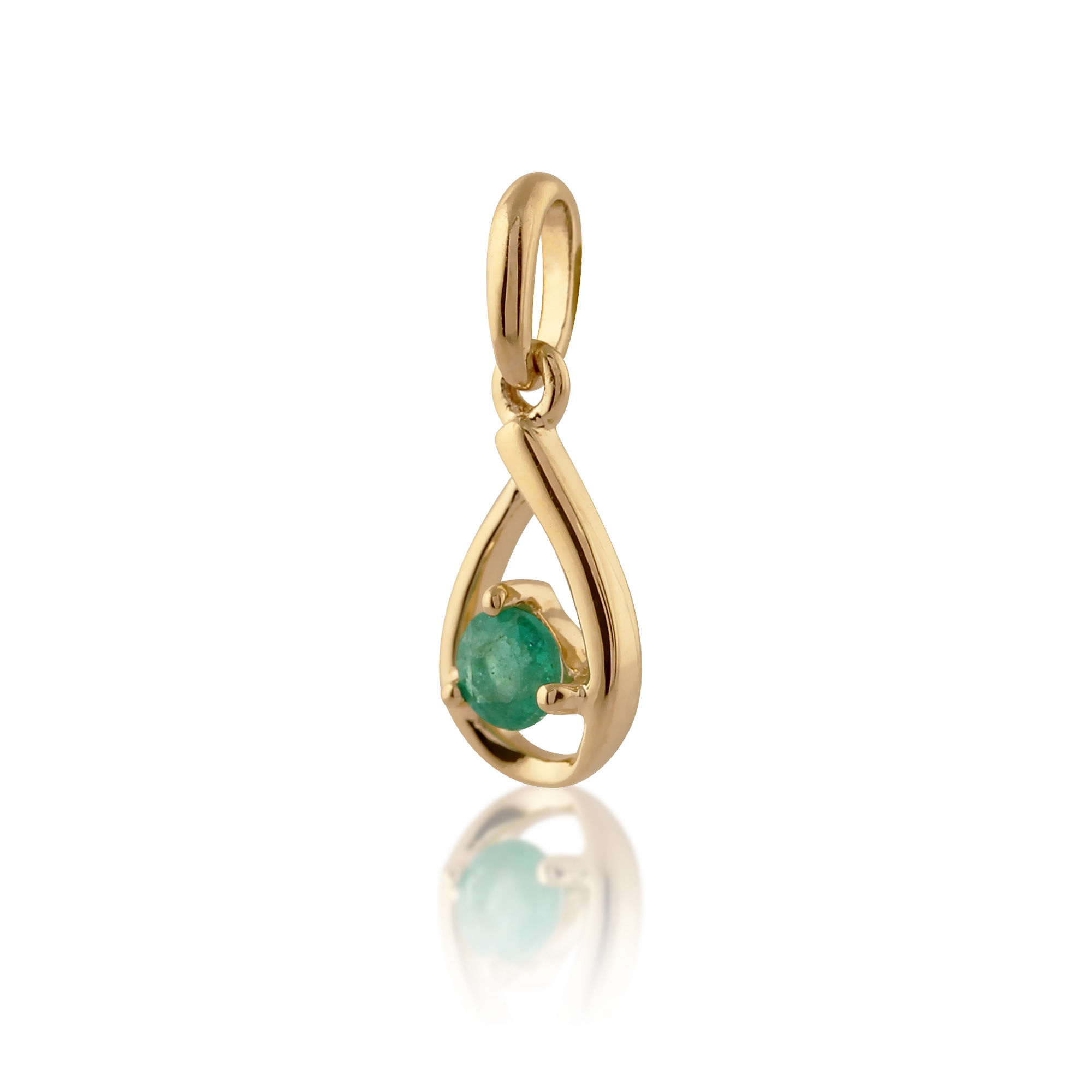 gemondo 9ct yellow gold single 0 14ct emerald