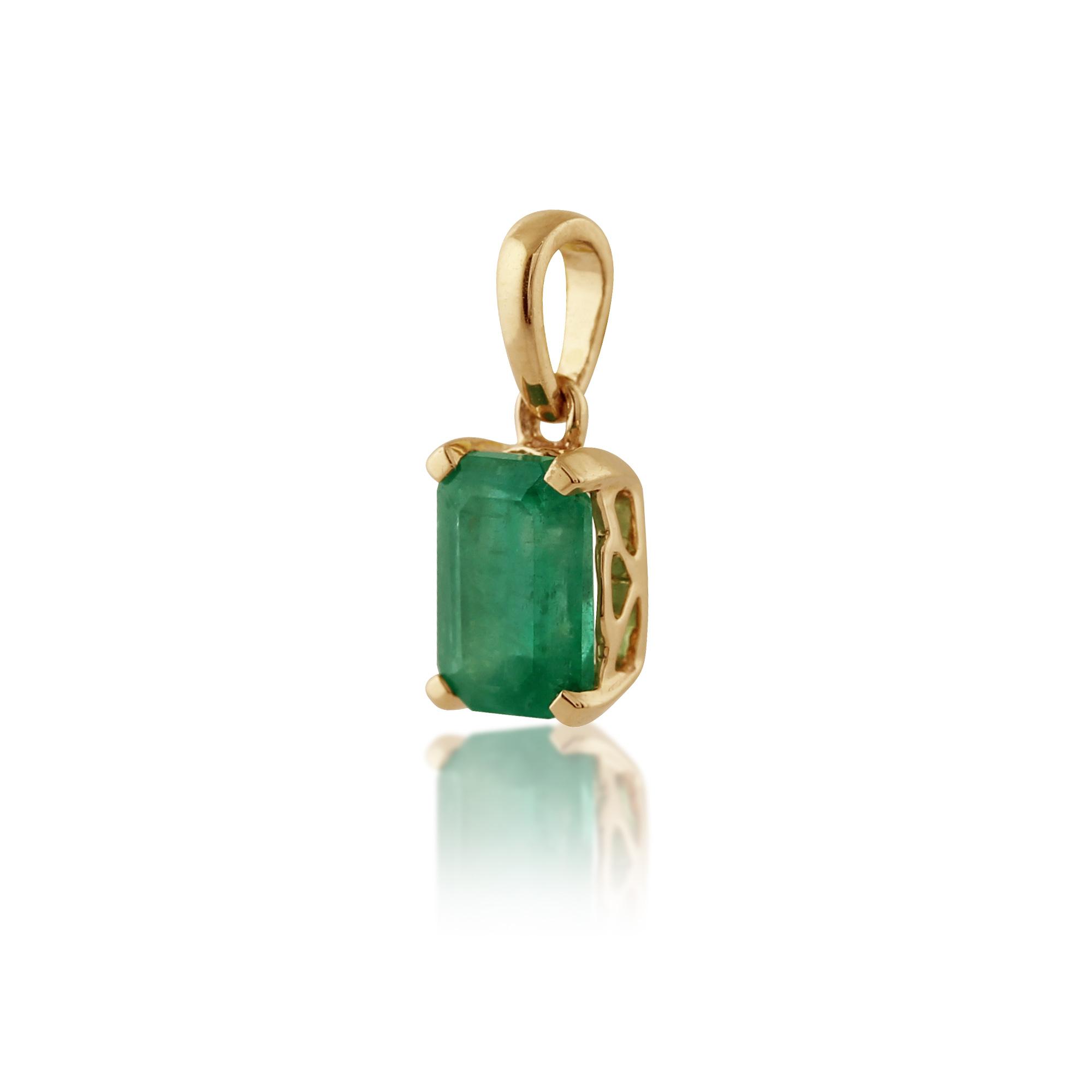 gemondo 9ct yellow gold single 0 58ct emerald