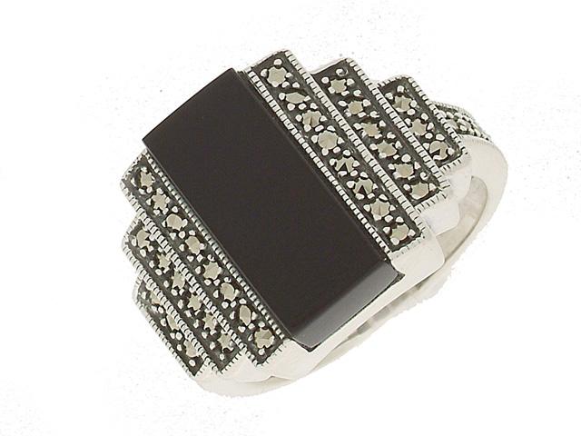 Silver Black Onyx