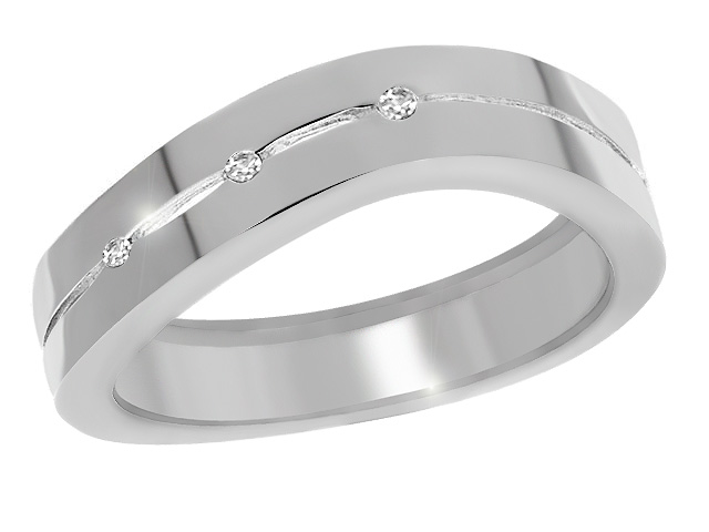Silver Contemporary Diamond Ring