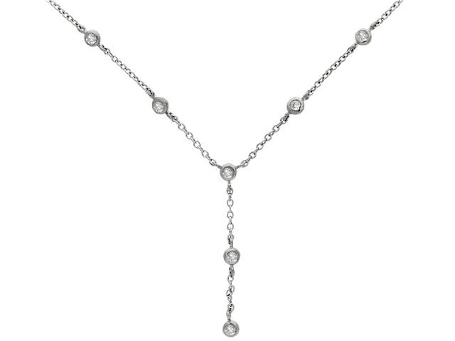 925 Sterling Silver White Cubic Zirconia Necklace