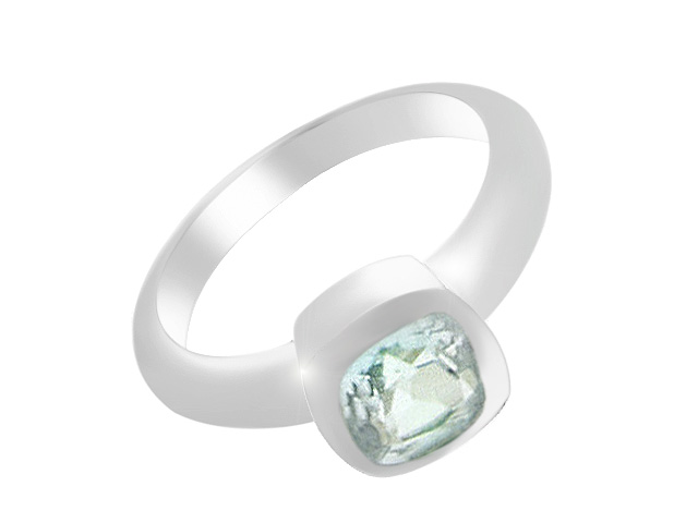 Silver Blue Topaz Cocktail Ring