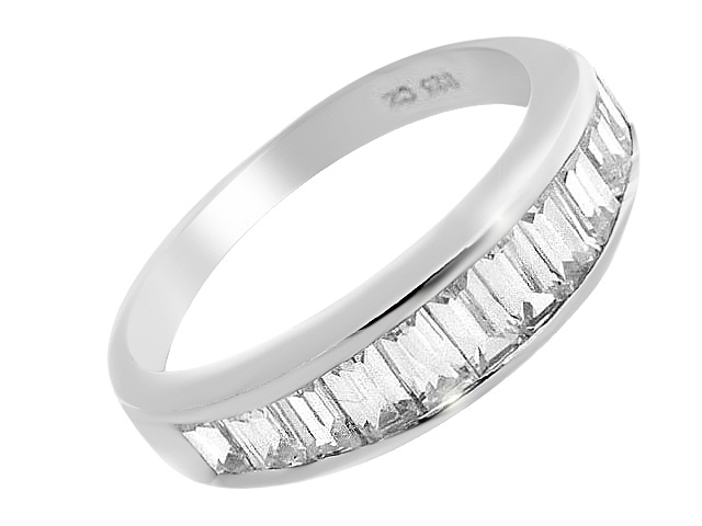 Silver Cubic Zirconia Half Eternity Ring