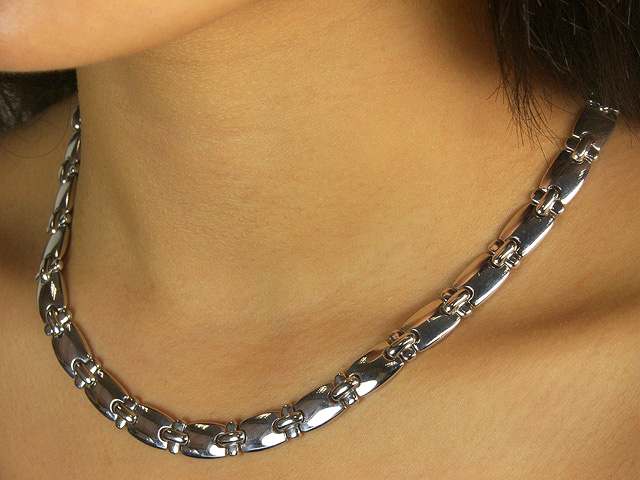 Plain Silver Necklace