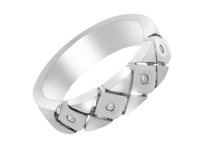 Silver Contemporary Diamond Ring