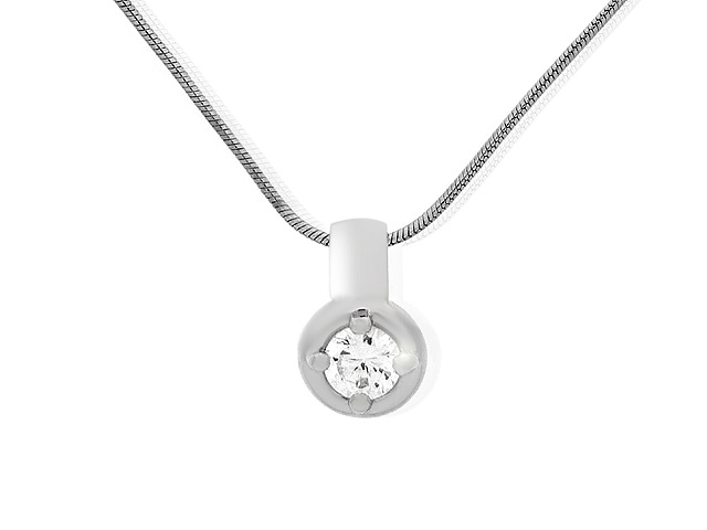 Silver CZ Necklace