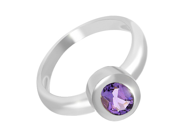 Silver Amethyst Cocktail Ring