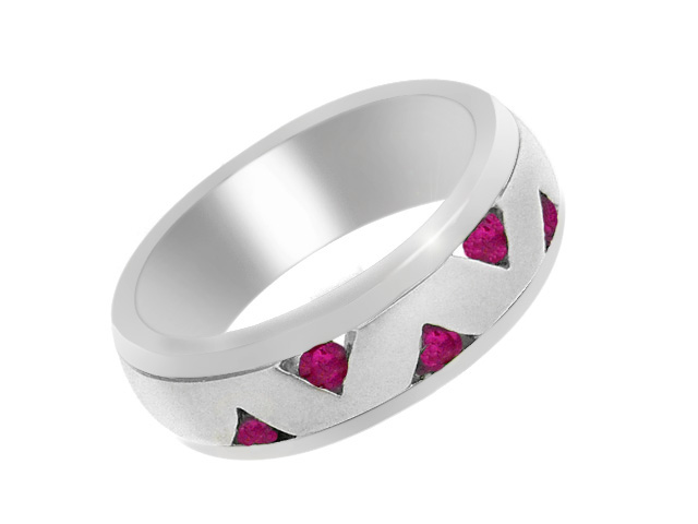 925 Silver Contemporary Ruby Ring