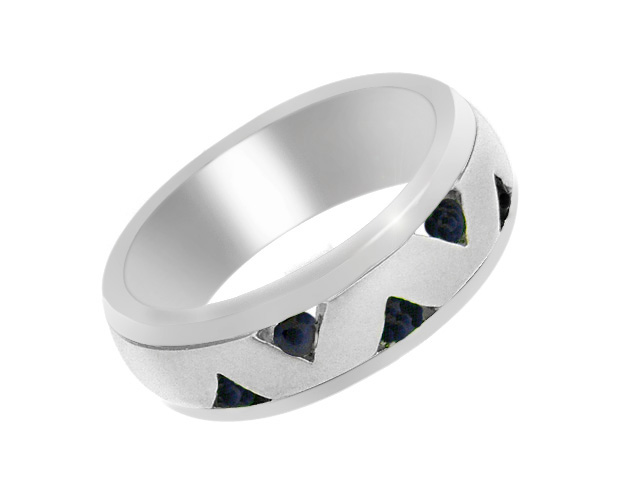 Silver Contemporary Sapphire Ring