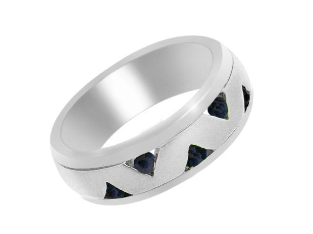 Silver Contemporary Sapphire Ring