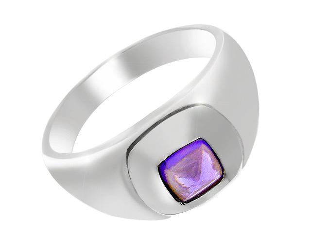 Silver Amethyst Chunky Ring