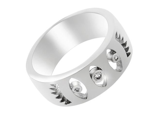 Silver Contemporary Cubic Zirconia Ring
