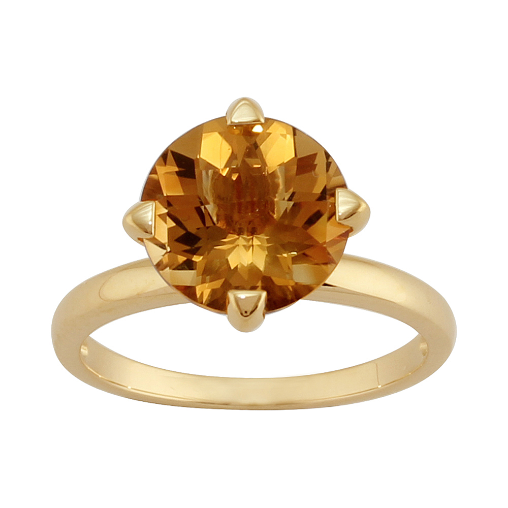 9ct Yellow Gold 2.90ct Natural Citrine Contemporary Cocktail Single Stone Ring