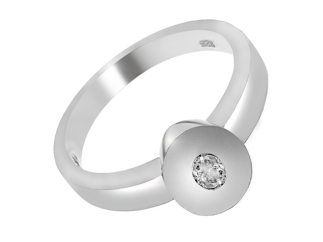 Silver Contemporary Cubic Zirconia Cocktail Ring