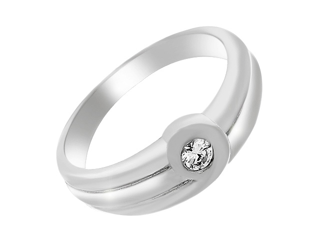 Silver Contemporary Cubic Zirconia. Ring