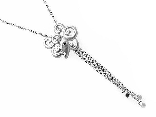 ZR Lady Manhattan Silver Drop Necklace