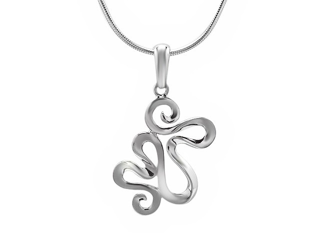 ZR Oriental Whisper Silver Necklace