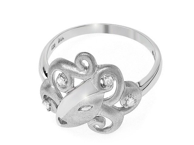 Zandra Rhodes Manhattan Lady Diamond Silver Ring