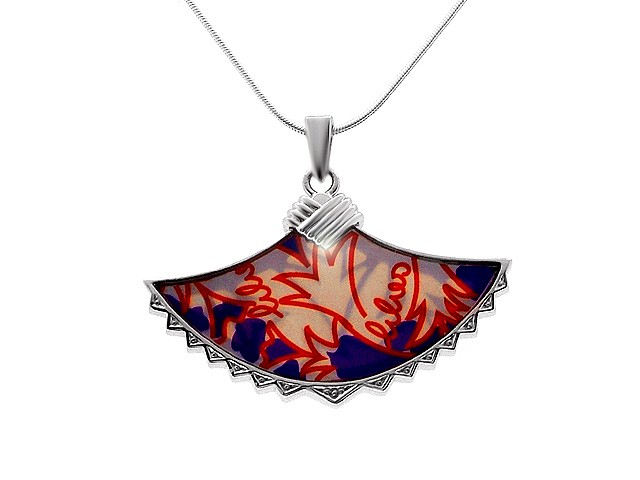 Zandra Rhodes Mother of Pearl Lovely Lilies Necklace