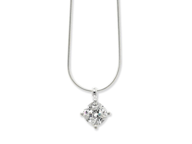 Esse Collection Silver CZ Necklace