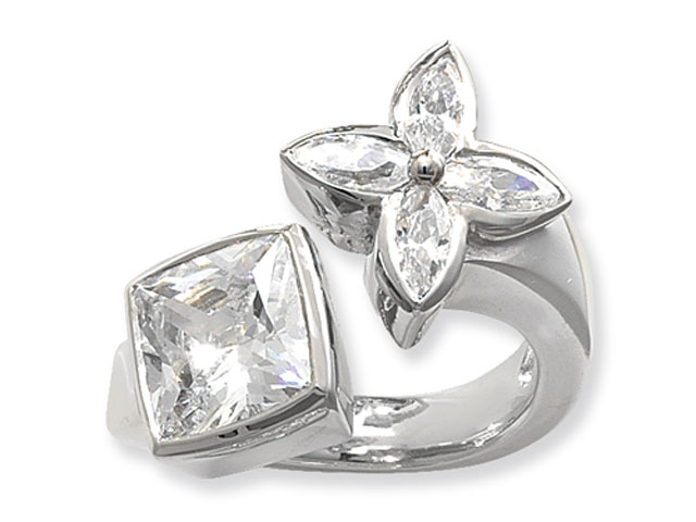 Esse Collection Silver CZ Ring